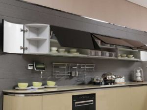Guangzhou oliva Acrílico sobre madera contrachapada del gabinete de cocina (OP13-076)
