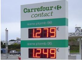 Signe d'étalage de prix du gaz de 8 pouces DEL (TT20F-3R-RED)