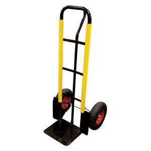 Het karretje van de hand pneumatische wielen het for Carretilla dos ruedas mano