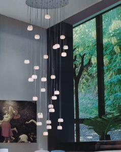 led moderna lmpara colgante de cristal lmpara colgante de iluminacin