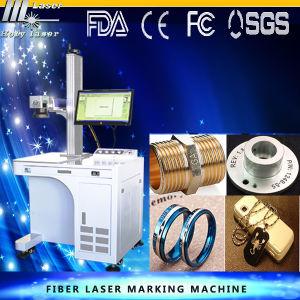 Machine de gravure d'inscription de laser de fibre en métal pour l'acier, pierre