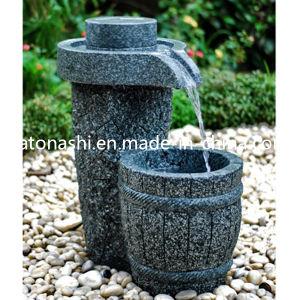 Fontaine d 39 eau d coup e par pierre de granit pour la - Pierre decorative exterieure jardin ...
