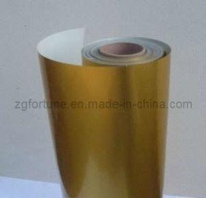 Película autoadesiva do animal de estimação da impressão do ouro da Água-Base (F39-191B)