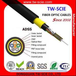 Câble optique de fibre de l'antenne 24 d'envergure d'ADSS 100m