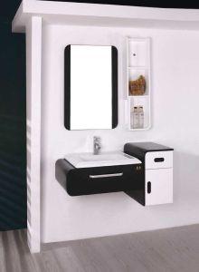 浴室の虚栄心PVC浴室用キャビネット(W-009)