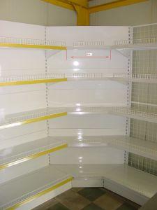 Présentoir personnalisable de supermarché en métal