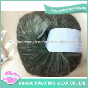 Tricotage à la main du filé de fantaisie -12 de coton de clavette de laines de polyester