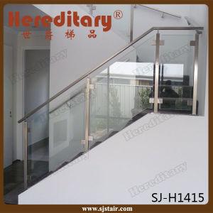 diseo de cristal interior del pasamano del acero inoxidable para el hotel de las escaleras sjh