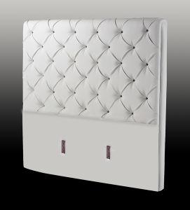 Wit hoofdeinde voor de basis van het bed 2861 wit hoofdeinde voor de basis van het bed - Wit lederen bed ...
