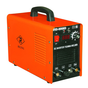 soldador do pulso do inversor TIG/MMA da C.C. 200AMP (TIG-200S)