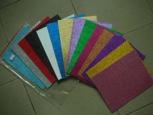 EVA com Glitters para artigos de papelaria da escola
