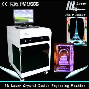 2d 3D Photo Laser cristal machine de gravure (HSGP-2KC)