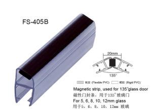 Da porta de vidro do chuveiro de 135 graus selo magnético do PVC (FS-405)