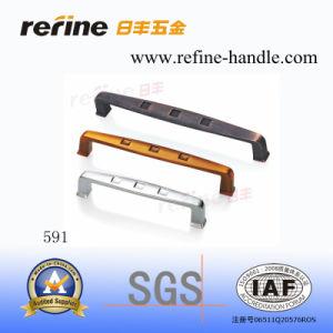 Poignée en alliage de zinc de traction de matériel de Cabinet (Z-591)