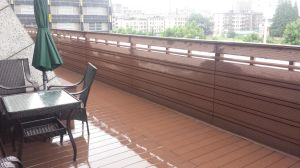 Revestimento Eco-Friendly de WPC, assoalho do Decking de WPC (HO03145)