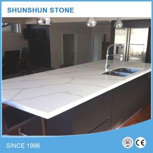 piedra artificial del cuarzo blanco encimera de cocina