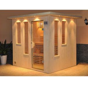 pessoas hotel sauna tradicional madeira seca cabana casa a