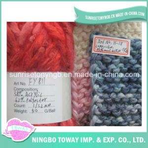 Lily Grosso do tubo da forma extravagante acrílico fios de lã