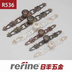 Poignée en alliage de zinc de Cabinet de bouton pour les meubles (R-536)