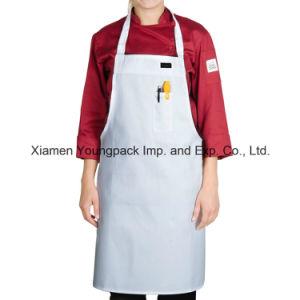 promocional negro de lona de algodn delantal de cocina para hombres