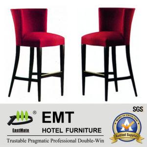 Tabouret de barre fort de chaise d'hôtel d'armature en bois (EMT-HC148)