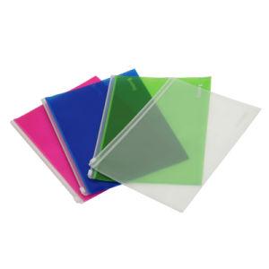 sac de fichiers pp avec fermeture glissi re en plastique f a022 sac de fichiers pp avec. Black Bedroom Furniture Sets. Home Design Ideas