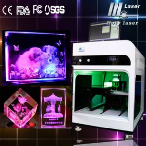 2d 3D Photo Crystal Cube Laser Inner machine de gravure (HSGP-2KC)