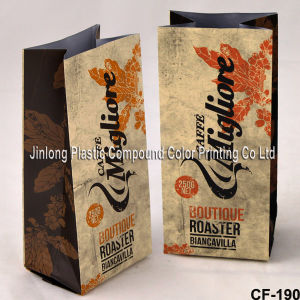 쿼드 밀봉된 유형 1회분의 커피 봉지 포장