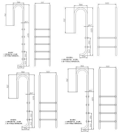 China 304 Stainless Steel Swimming Pool Ladder China