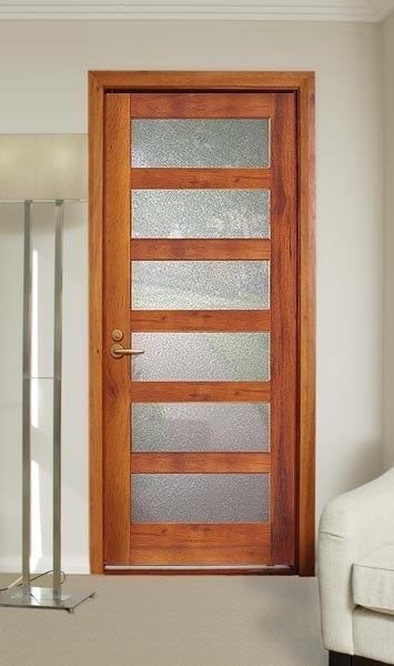 Temporizador interior puerta de madera s lida for Puertas vaiven modernas