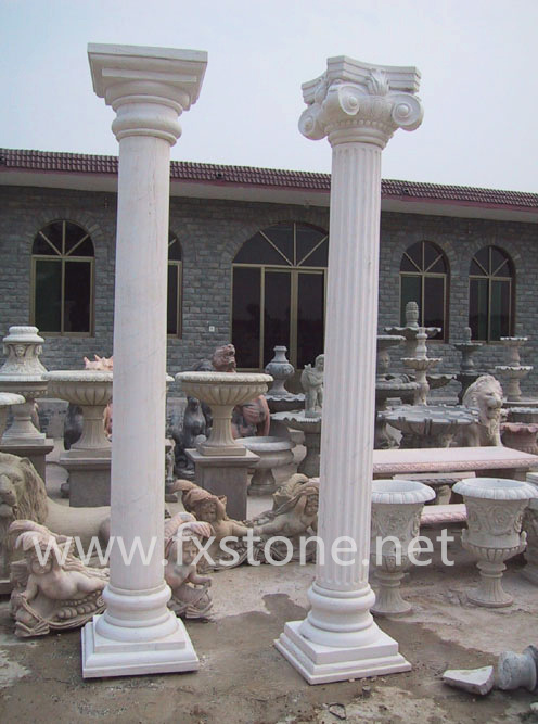 Granite Stone Columns : China marble granite columns stone column and pillar in