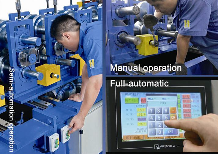 Automatic Driven by Gear Boxes C Shape Purlin Roll Form Machine FC300 Chinese Manufacture