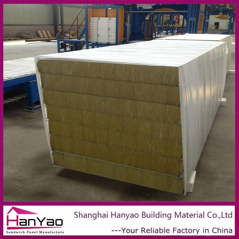 Fireproof Metal Panels : China insulated fireproof hidden rock wool metal sandwich