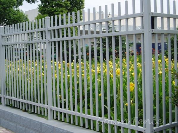China Industry Powder Coating Galvanized Iron Fence