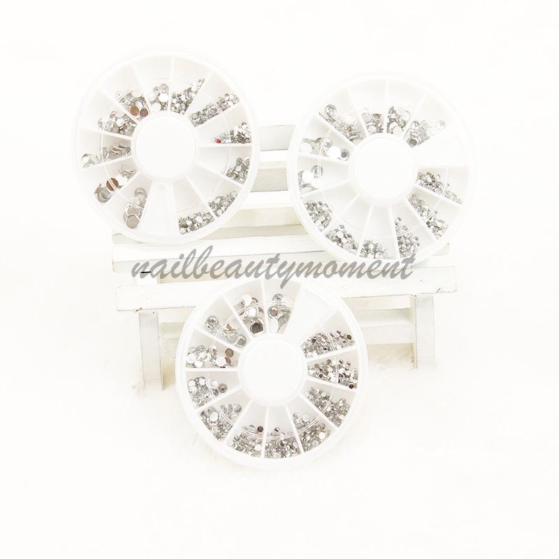 Silver Nail Glitter berlian imitasi di Wheel Nail Art Gem (D27)