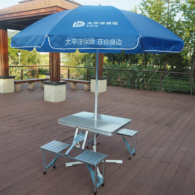 China new portable aluminium picnic folding table with - Aluminium picnic table with umbrella ...