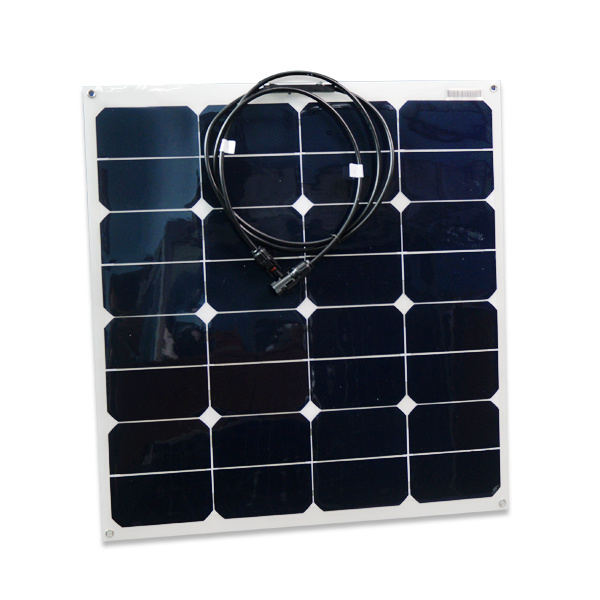 High Efficiency 50W Flexible Solar Panel China Manufacturer