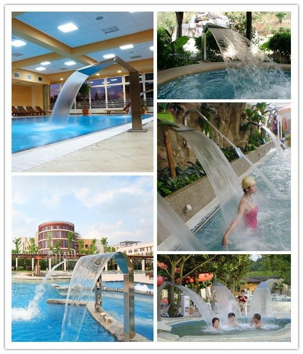 Jet d 39 eau de bain spa pour piscine en acier inoxydable for Piscine acier carre