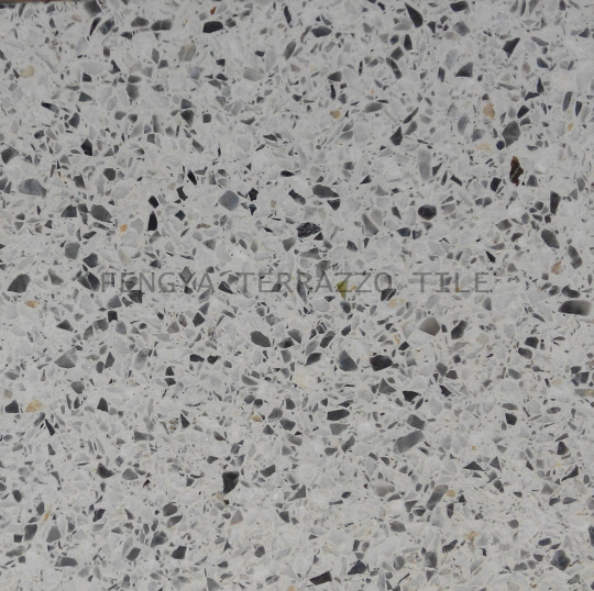 Azulejo del terrazo azulejo de la piedra de la for Suelo terrazo blanco