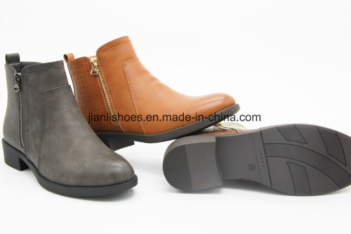 Carved Pattern Special PU Leather Boots for Ladies (AB611)