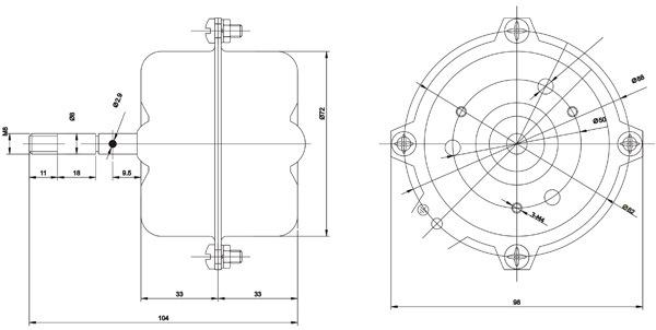 calentador 5 horno  motor de ventilador del flujo