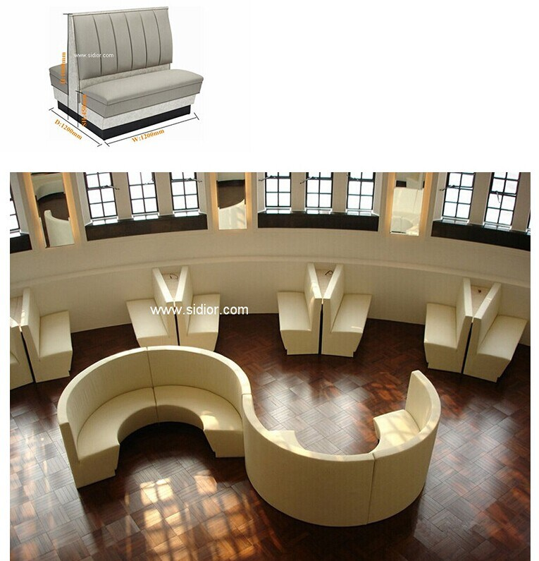 (SD-4002) Modern Hotel Restaurant Dining Furniture Wooden Booth Sofa