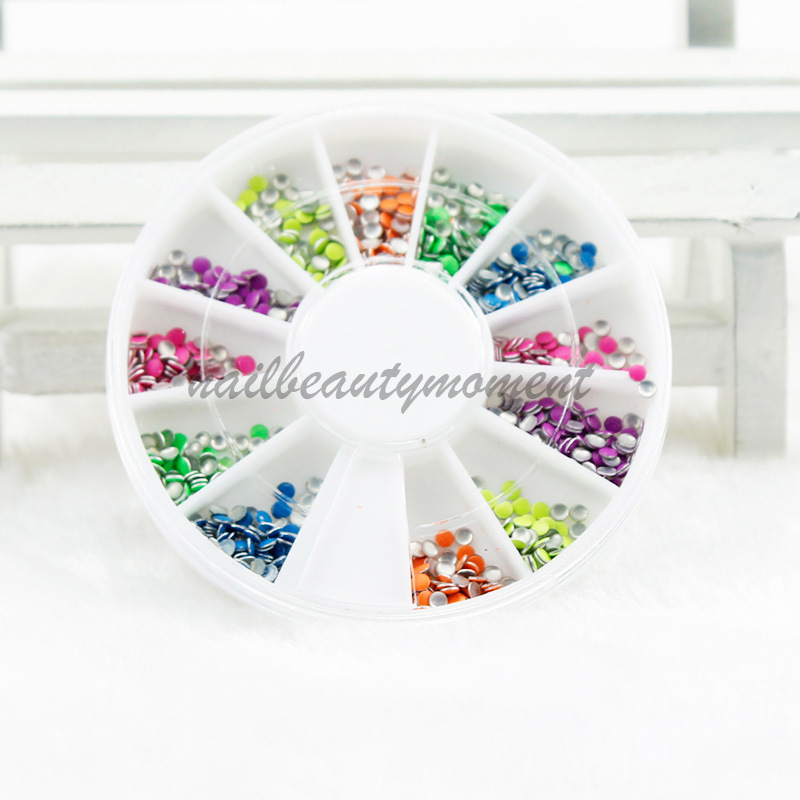 Fluorescent Colorful Nail Art Rivets Nail Art Accessories Metal Studs