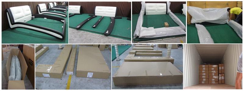 Base di cuoio adulta di disegno della mobilia elegante for 3 disegni della camera da letto della base