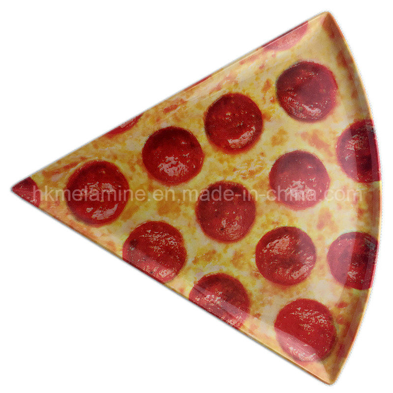Round and Triangle Melamine Pizza Plate (PT3163)