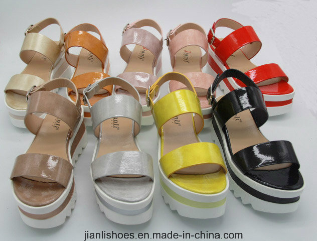 2018 Summer Ladies Colorful PU Women Sandal (PSA011)