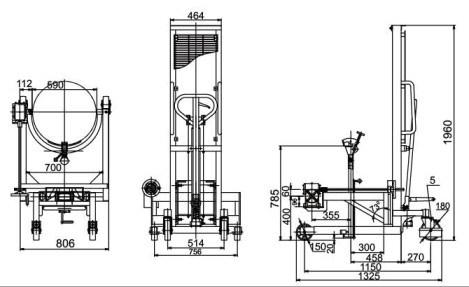 China Hydraulic Drum Stacker 400kg Capacity Da40A