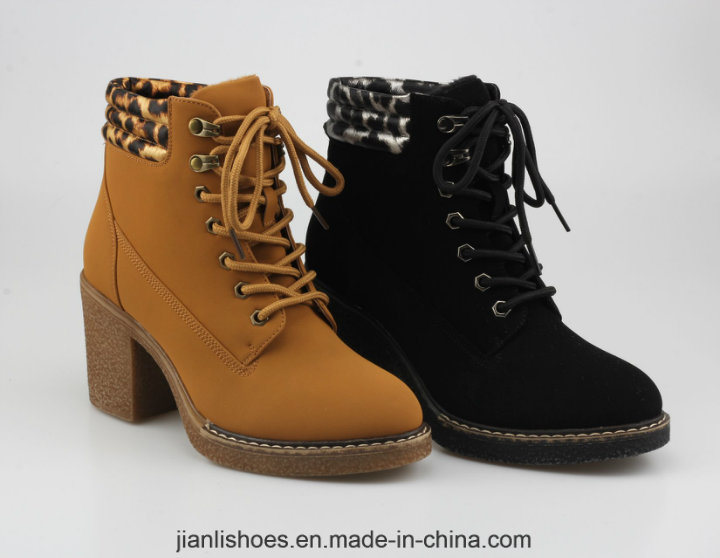 2018 Classic Sexy Lace-up Women Shoe Ankle Boots with Soft Fur (AB667)