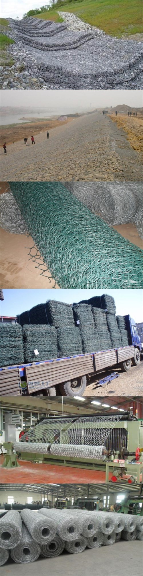 PVC Coated Galvanized Gabion Box Gabion Mattress Gabion Stone