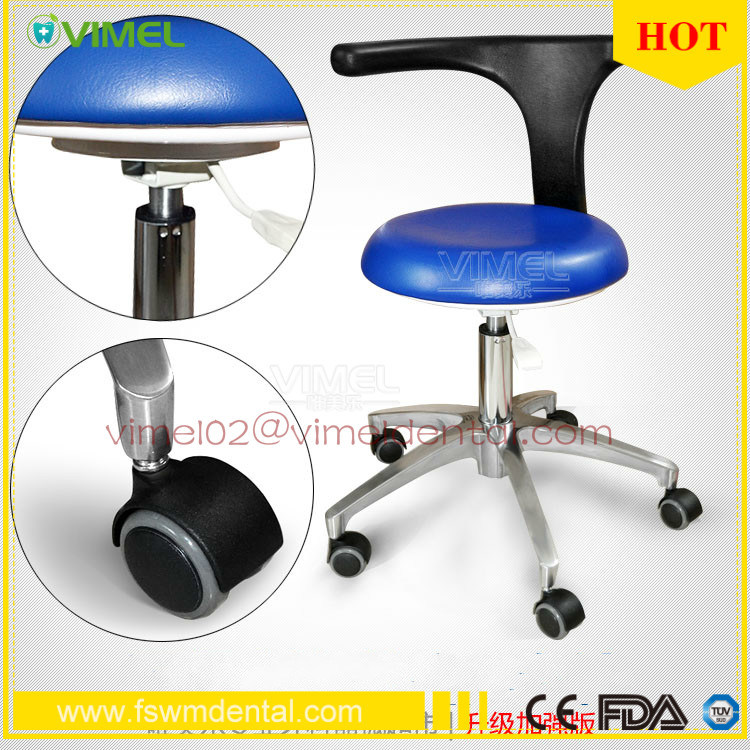 China Dental Equipment Real Leather Dentist Stool Chair